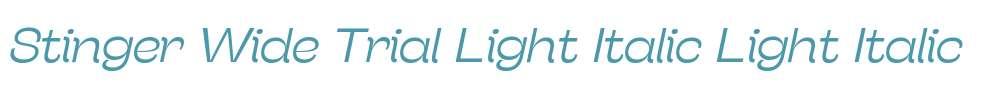Stinger Wide Trial Light Italic