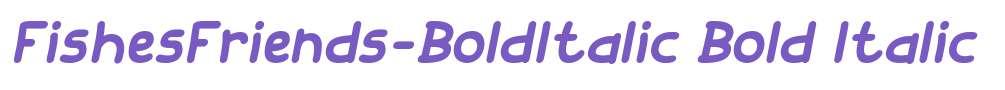 FishesFriends-BoldItalic