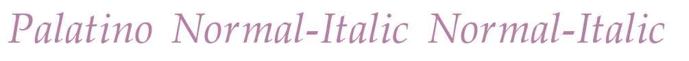 Palatino Normal-Italic