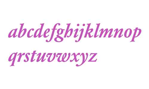 Garamond BE Medium Italic