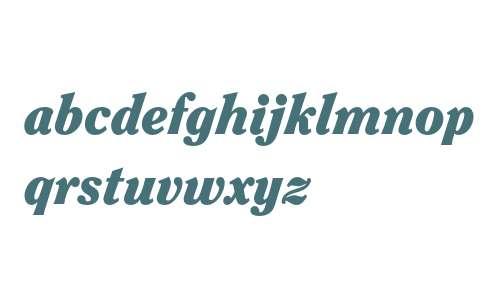 ITC Clearface Std Black Italic