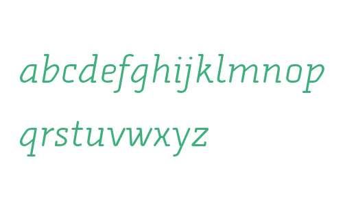 Alega Serif OT W03 Light Italic