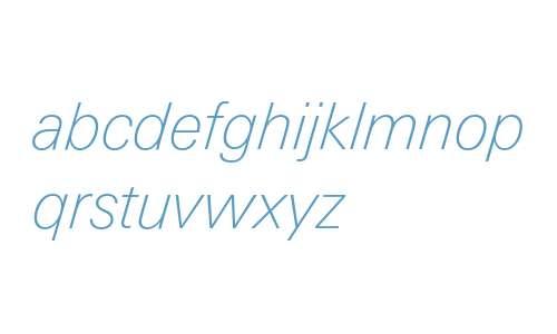 LinotypeUnivers-BasicThinItalic