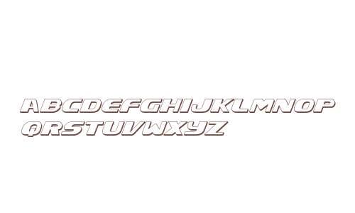 Xcelsion Deep 3D Italic Italic