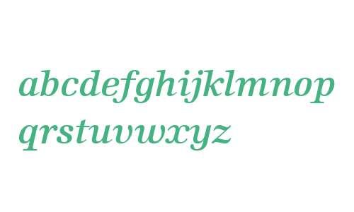 Edison W02 Semi Bold Italic