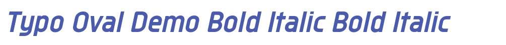 Typo Oval Demo Bold Italic
