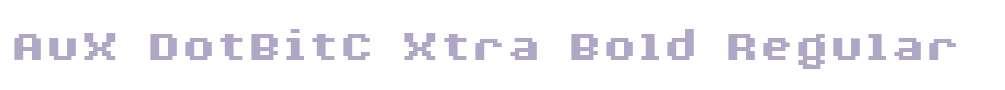 AuX DotBitC Xtra Bold