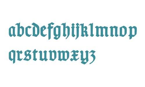 TypographerGotisch D Bold