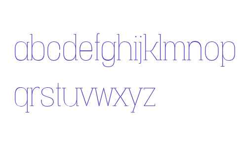 Vacer Serif W00 Thin
