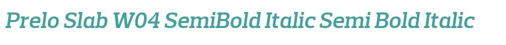 Prelo Slab W04 SemiBold Italic