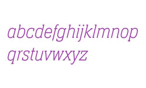 Neue Aachen W04 Thin Italic
