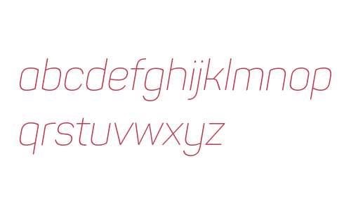 Panton W01 ExtraLight Italic
