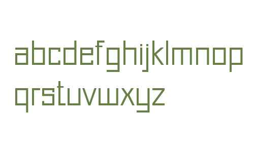 Just Square LT Std Cyrillic Light