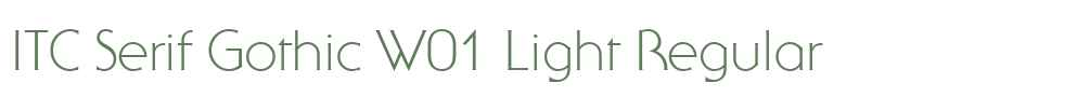 ITC Serif Gothic W01 Light