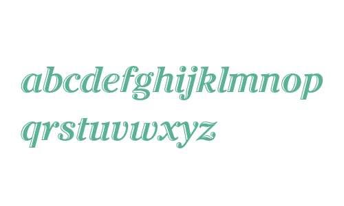 ITC Cheltenham Handtooled Std Bold Italic