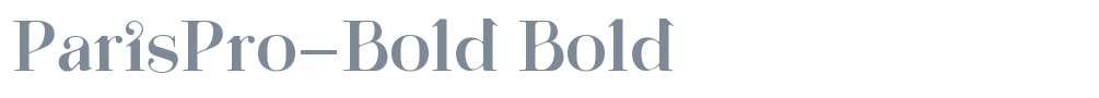 ParisPro-Bold