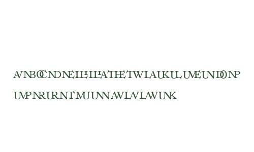 Ronaldson W00SC Ligatures