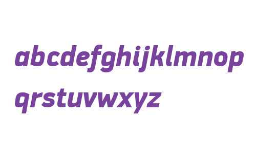 PF DinDisplay W01 Black Italic