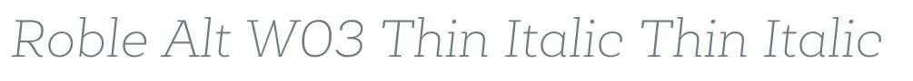 Roble Alt W03 Thin Italic