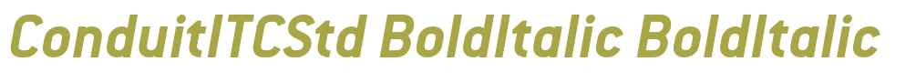 ConduitITCStd BoldItalic