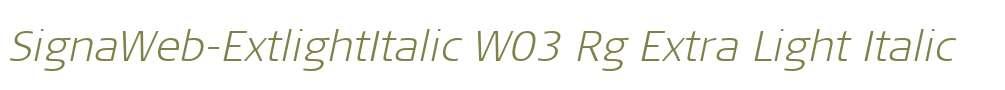 SignaWeb-ExtlightItalic W03 Rg
