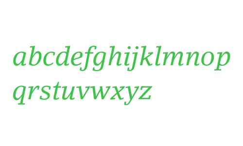 LinoLetter Italic Oldstyle Figures