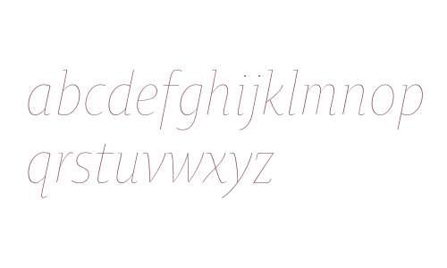 OksanaTextNarrowThin-Italic