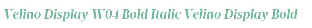 Velino Display W04 Bold Italic