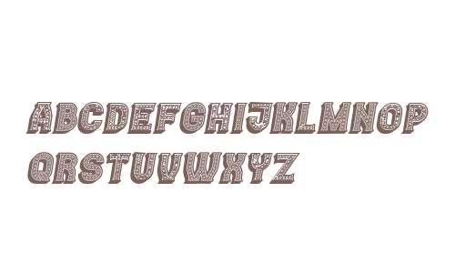 Casino 3D Lines Marquee Italic