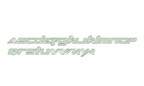 Xephyr Engraved Italic