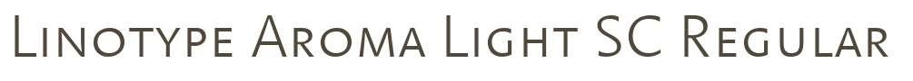 Linotype Aroma Light SC