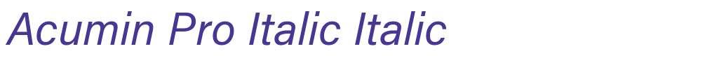 Acumin Pro Italic