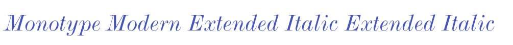 Monotype Modern Extended Italic