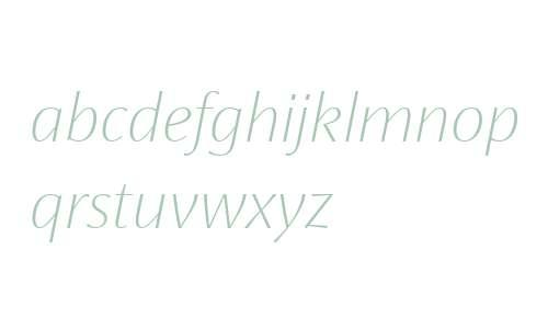 KoningDisplay UltraLight Italic