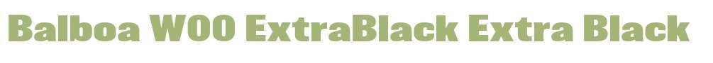 Balboa W00 ExtraBlack