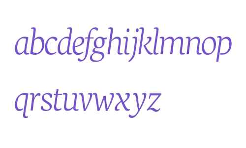 Neuton Extralight Italic