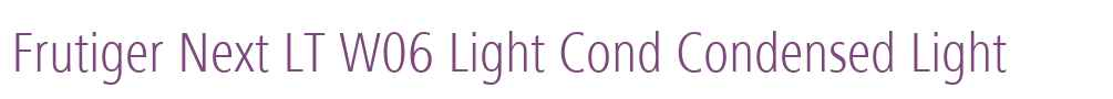 Frutiger Next LT W06 Light Cond