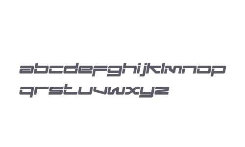 MechwarBold Oblique W00 Regular