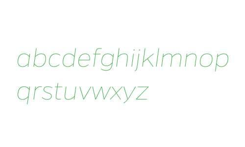 Gentona W00 Thin Italic