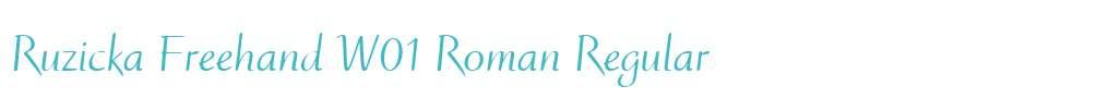 Ruzicka Freehand W01 Roman