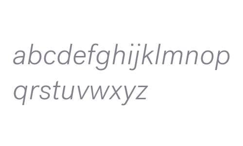 Post Grotesk Light Italic Light Italic