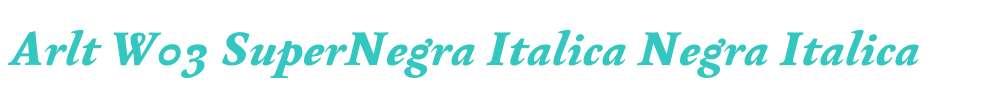 Arlt W03 SuperNegra Italica