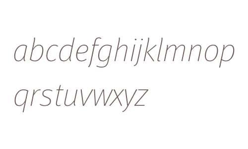 Meta W15 Thin Italic