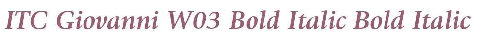 ITC Giovanni W03 Bold Italic