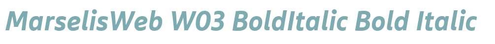 MarselisWeb W03 BoldItalic