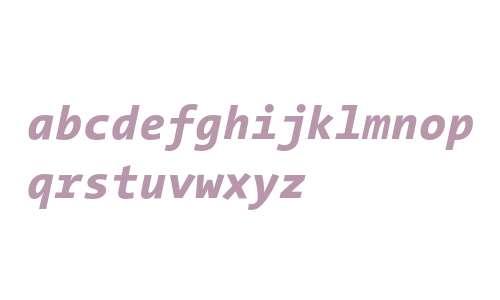 TheSansMono Extra Bold Italic