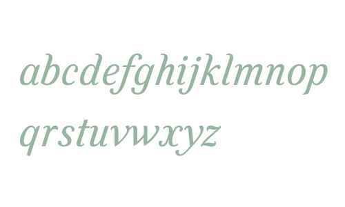 Felice W01 Italic