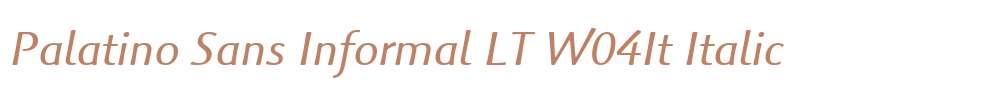 Palatino Sans Informal LT W04It