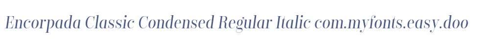 Encorpada Classic Condensed Regular Italic