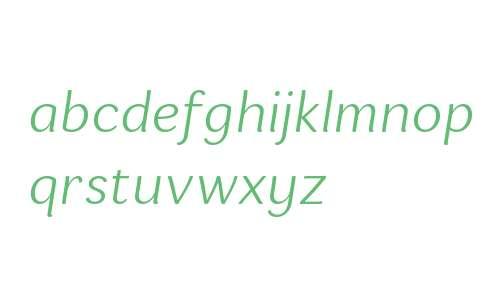 Espuma W03 Light Italic